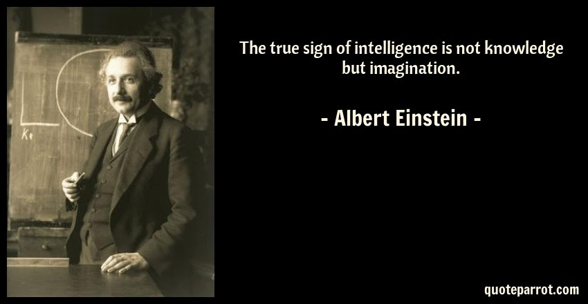 The True Sign Of Intelligence Is Not Knowledge But Imag By Albert