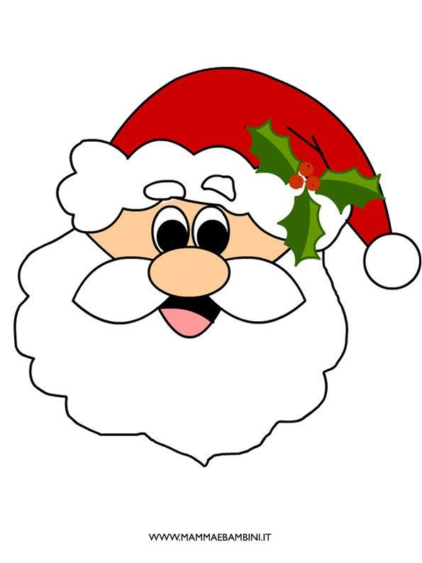 Viso Di Babbo Natale Da Stampare Mamma E Bambini