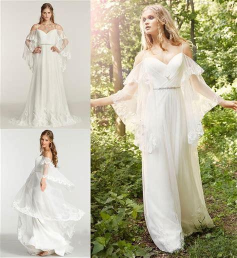 Sexy Boho Beach Chiffon Lace Wedding Dresses Plus Size