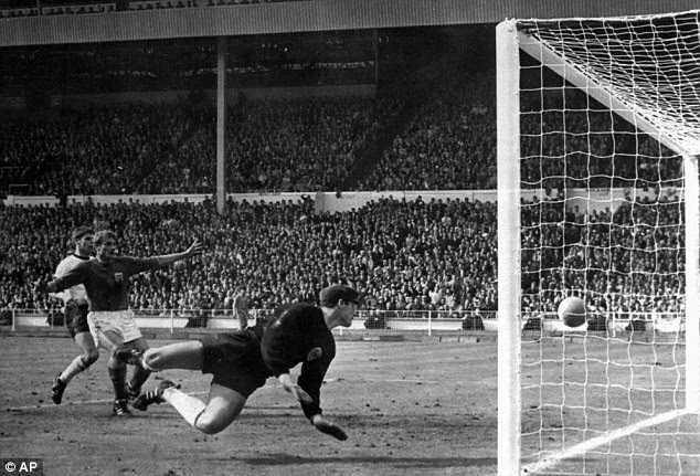 Controversial: Debate has raged for almost 50 years over Geoff Hurst's goal in the 1966 World Cup final