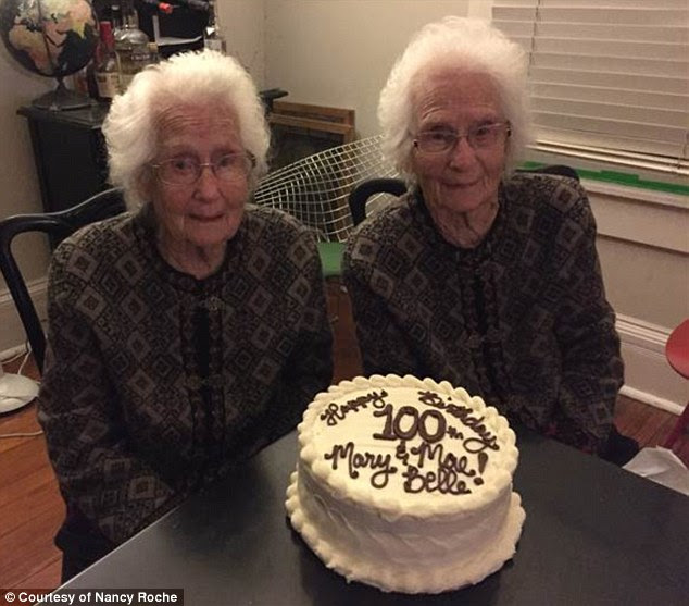A century together: Identical twinsMary Belle Roach and Mae Belle Powell celebrated their 100th birthdays on March 25