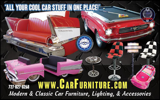 Modern & Classic Car Furniture, Lighting, and Accessories.