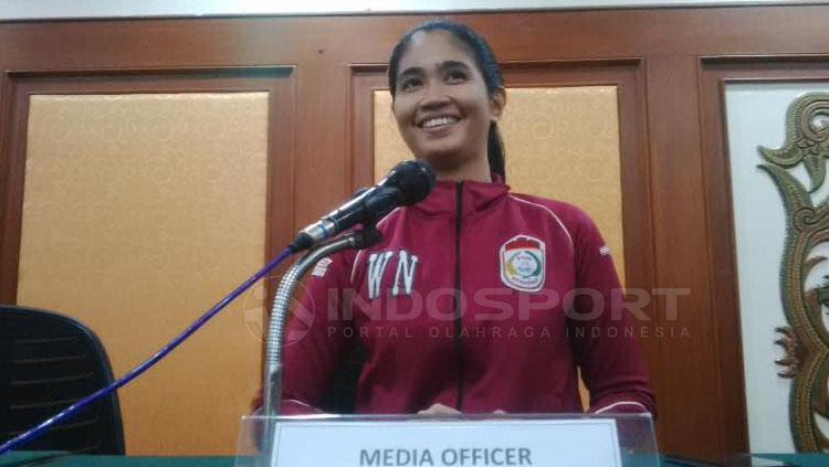 Media Offi   cer PSM Makassar, Andi Widya Syadzwina. Copyright: Muhammad Nur Basri/INDOSPORT