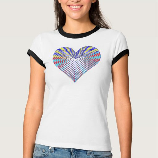 Rainbow Riot Valentine's Heart T-Shirt