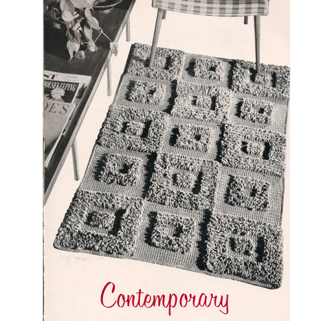 Crochet Contemporary Rug pattern