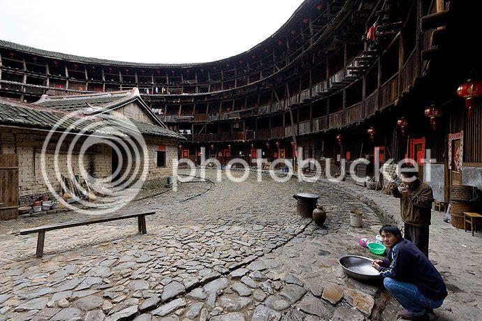 etrange maison Hakka en Chine
