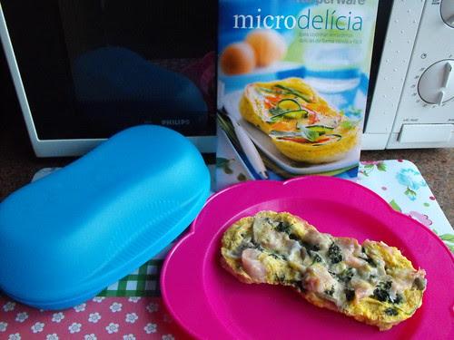 Omeleta no micro-ondas