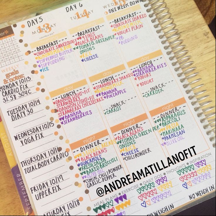 1000+ images about Erin Condren Life Planner Ideas - Fitness on ...