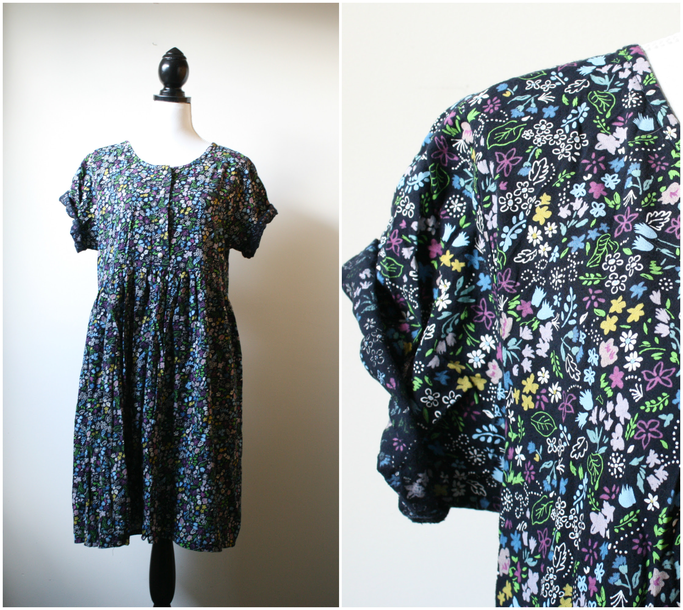 floral 1990s grunge dress platinumandrust.com
