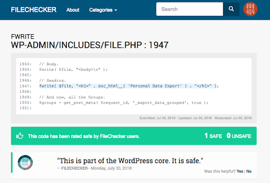 FileChecker WordPress Plugin
