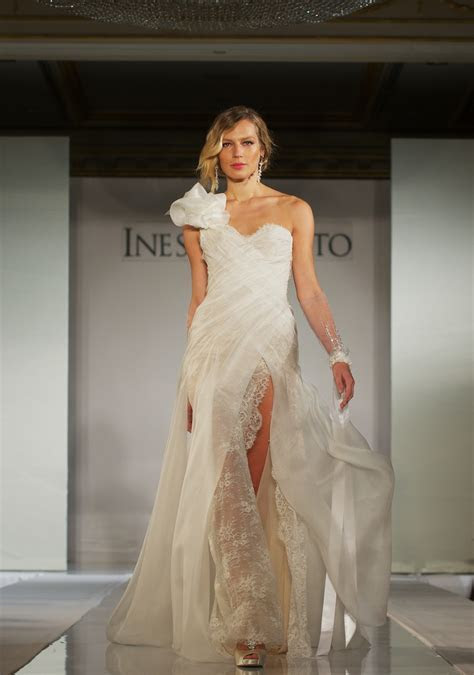 2012 wedding dress trends  gowns with slits and sleeves