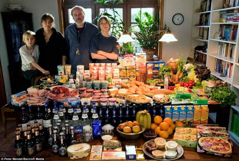Γερμανία: Η οικογένεια Melander από Bargteheide που περνούν γύρω από £ 320 σε εβδομαδιαία κατάστημά τους