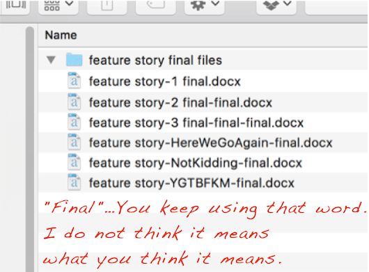 File naming conventions when you have tons of revisions
