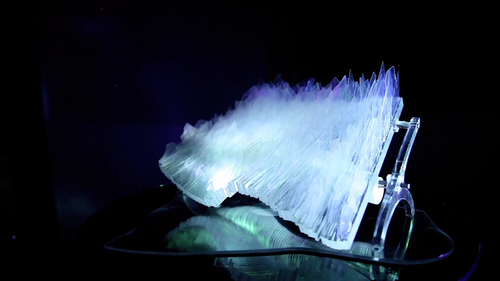 A kinetic glass sculpture: FLOE: RCA Collaboration