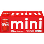 Coca-Cola Mini - 10 pack, 7.5 fl oz cans
