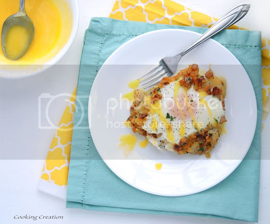 Breakfast Skillet Pie with Insanely Fast & Easy Hollandaise