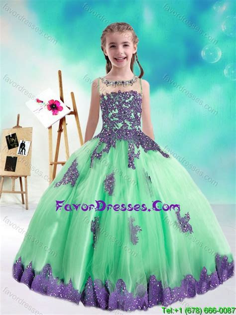 Sweet Multi Color Little Girl Pageant Dresses with