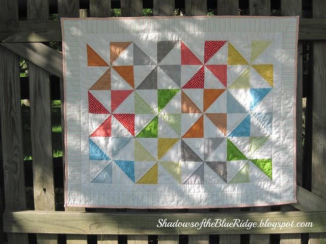 Pinwheels Baby Quilt