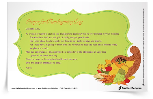 Free Thanksgiving Prayers & Reflections for Catholic Families