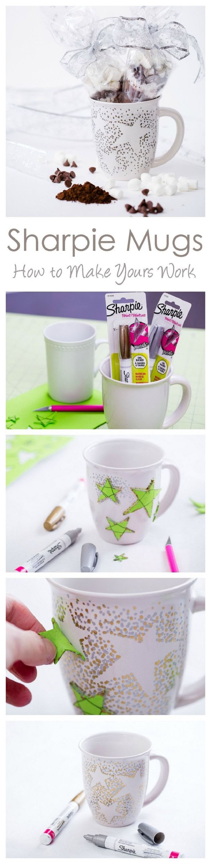 Sharpie Mug with Oil Based Sharpies - 16 Easy and Cool Sharpie Crafts You'll Love | GleamItUp