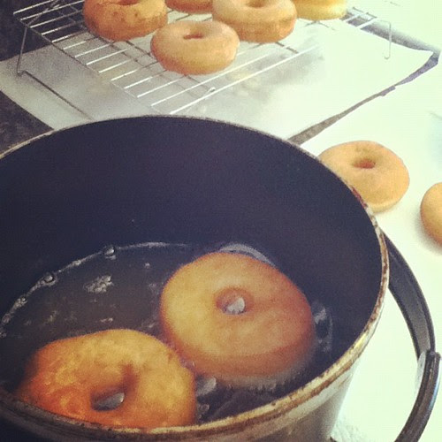 Homemade donuts before noon. Best idea ever.