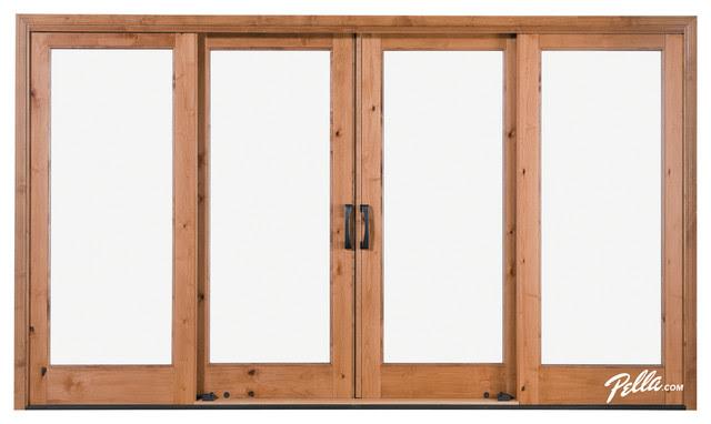 Pella® Architect Series® 4-Panel Sliding Patio Door - contemporary ...