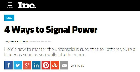 What Signals Are You Sending? (Expanded from Inc.) -