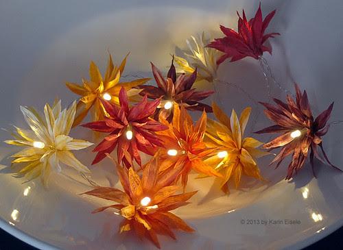 paper yarn flower lights