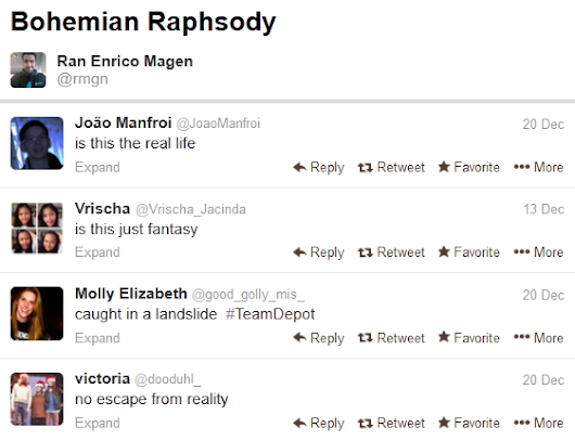 Queen's 'Bohemian Rhapsody' Sung with Tweets