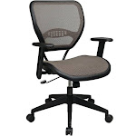 Office Star Space Latte Air Grid Seat & Back Deluxe Task Chair