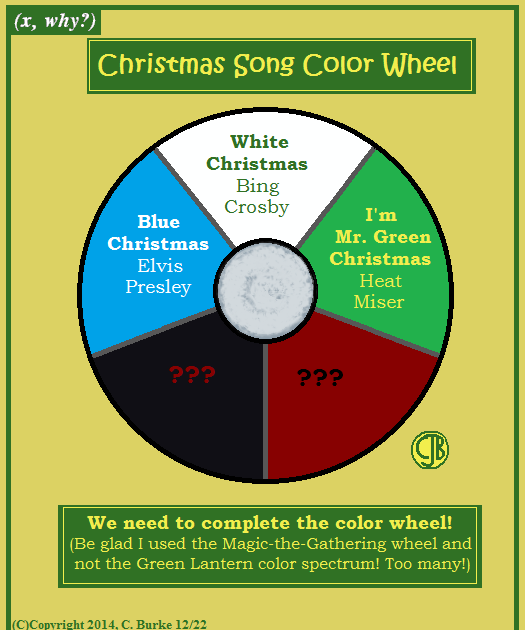 X Why Christmas Song Color Wheel