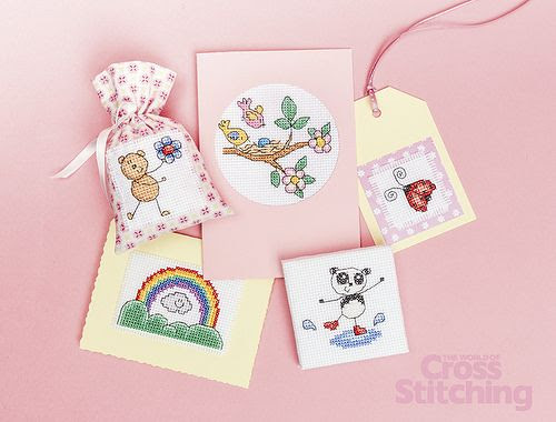 Design Library collection – 'Springtime cuties', cross stitch charts