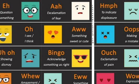 Dictionary of Interjections: Express Emotions, Feelings and Surprise | L.E.T