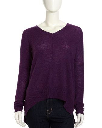 Line Long V-Neck Cashmere Sweater