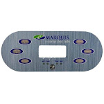 Marquis Spa E-Series 6-Button Topside Panel Overlay MRQ650-0742