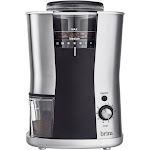 Brim - 6.4-Oz. Conical Burr Coffee Grinder - Stainless Steel