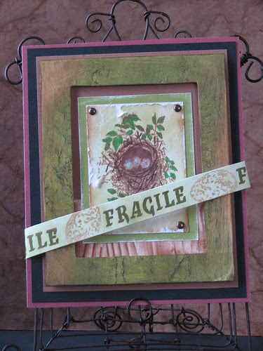 Ink Stained Roni's Stamps - Fragile 001