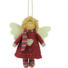 """Northlight 4.25"""" Hannah The Holiday Angel Decorative Hanging Christmas Ornament"""