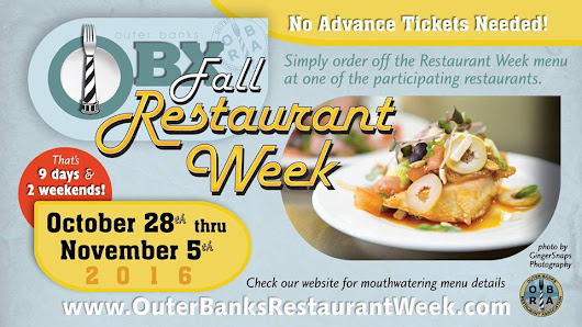 Outer Banks Events – Top Picks October 24-30 Restaurant Week