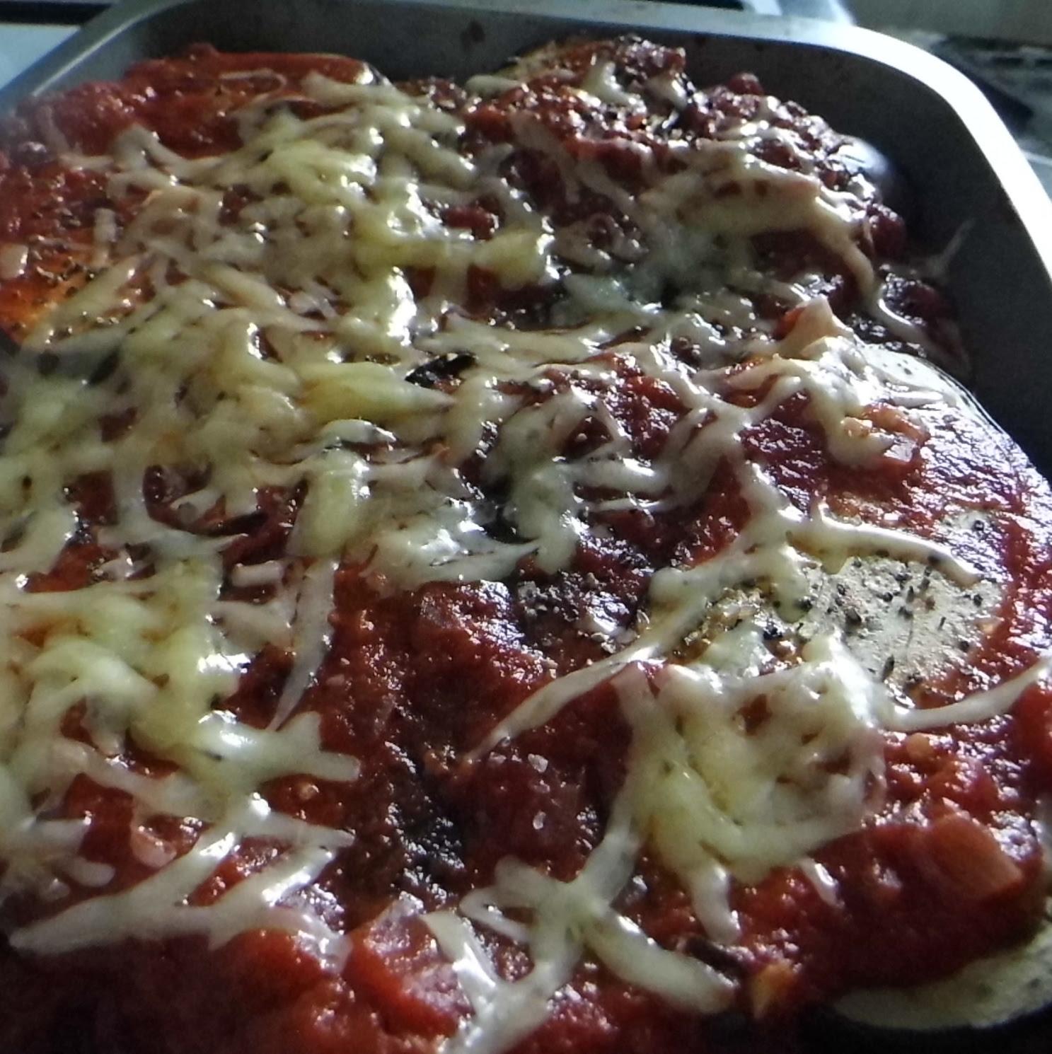 Parmigina Melanzane Before Cooking