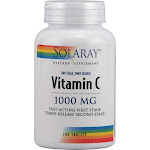 Solaray Two-Stage Timed-Release Vitamin C 1000mg 100 Tablets