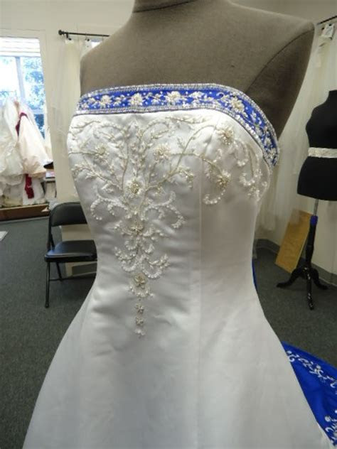 alfred angelo style 1516 size 8 cobalt wedding dresses