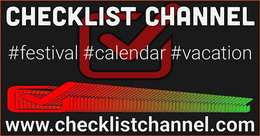 Essential Checklists For Festivals, Vacations And More | Checklist Channel