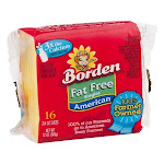 Borden Fat Free Singles American 16 slices 3 packs