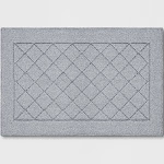 """1'8""""X2'6"""" Diamond Clarkson Washable Tufted And Hooked Accent Rug Gray - Threshold"""