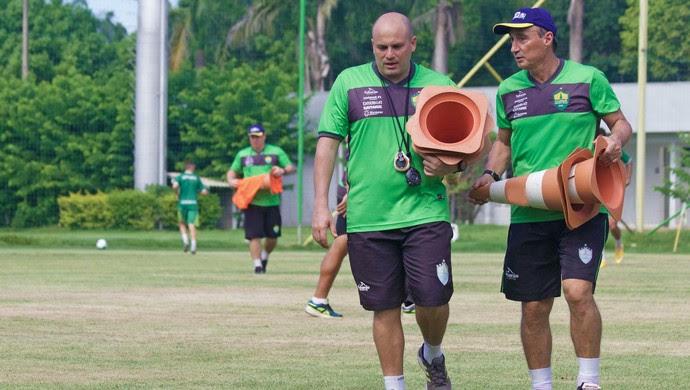 Gesiel e Roberto Fonseca (Foto: Pedro Lima/Cuiabá EC)