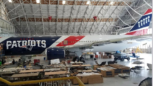 New England Patriots first NFL team to have own planes