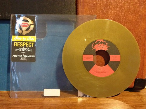 "Otis Redding / Aretha Franklin - Respect Split 7"" - Gold Vinyl by Tim PopKid"