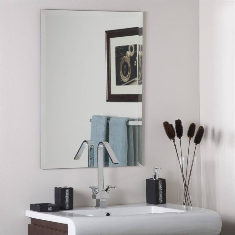 Mirrors Framed Decorative Frameless Bevelled Edge Pencil