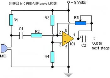 Naylg besides Low Noise Hi End Electret Mike Pre  lifier further Ms Baux Schematic further Electret Condenser Microphone Pre lifier By Bc C Bc C as well Mixer. on electret microphone circuit schematics